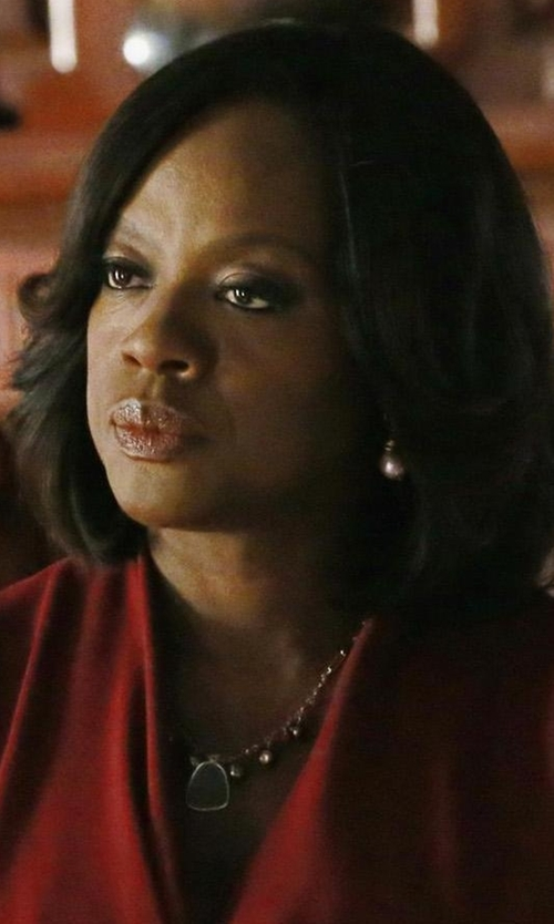 Viola Davis with Meira T Amazonite Pendant Necklace in How To Get Away With Murder
