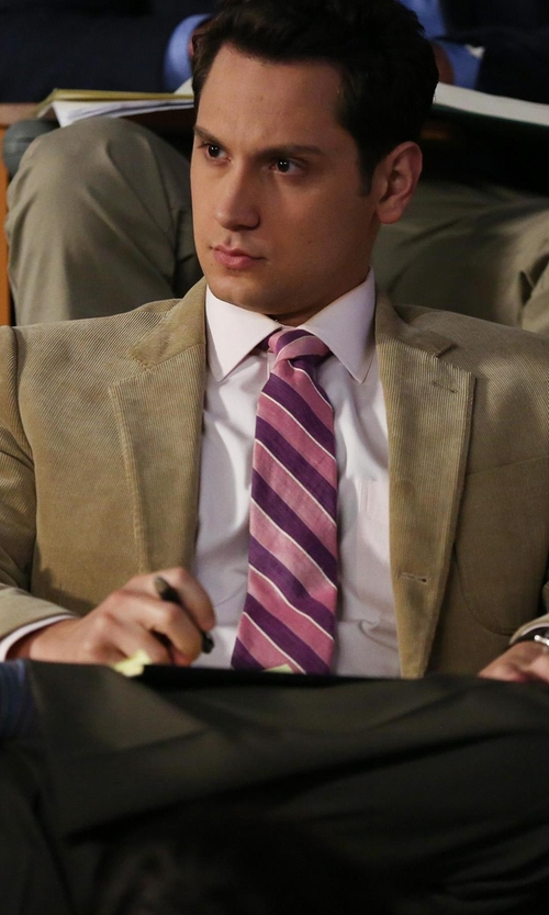 Matt McGorry with Boglioli Corduroy Blazer in How To Get Away With Murder