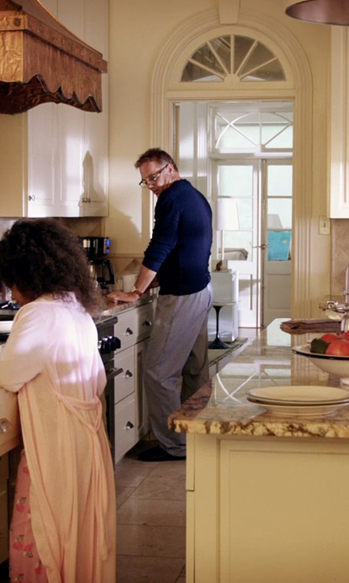 Kevin Costner with Reebok Men's Cotton Jersey-Knit Lounge Pants in Black or White