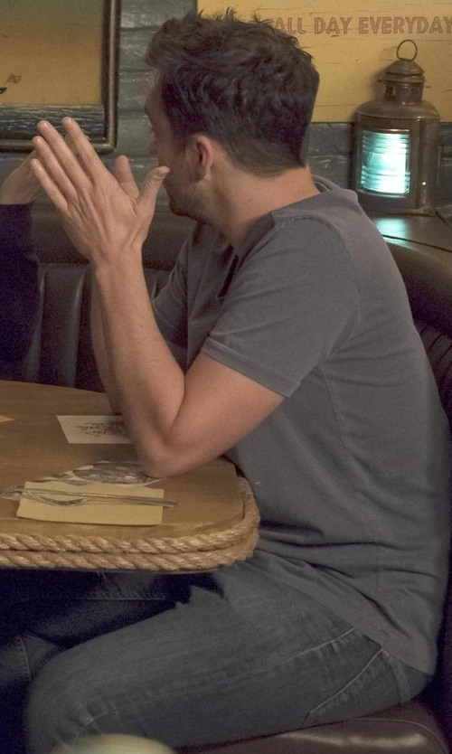 Max Greenfield with Hugo Boss Straight Leg Jeans in New Girl