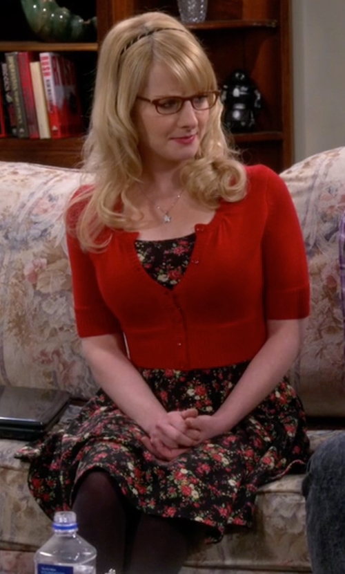 Melissa Rauch with Mango  Floral Dress in The Big Bang Theory