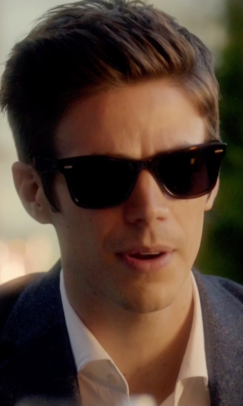 Grant Gustin with Ray-Ban Original Wayfarer Sunglasses in The Flash