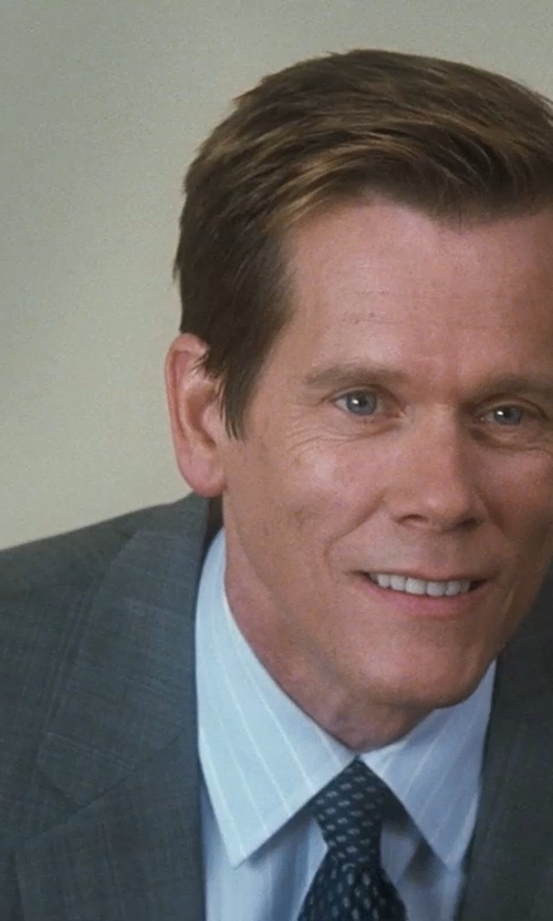 Kevin Bacon with Stefano Ricci Wide/Thin Striped Dress Shirt in Crazy, Stupid, Love.