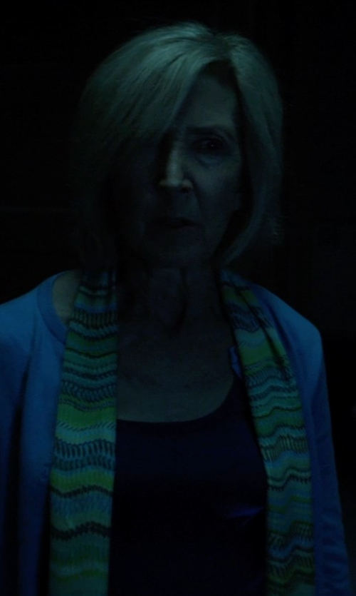 Lin Shaye with Splendid Drapey Lux Scoop Neck Tee Shirt in Insidious: Chapter 3
