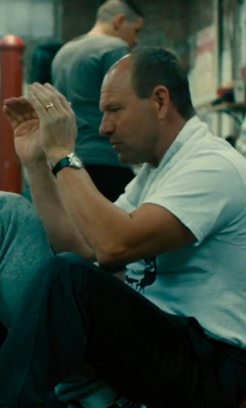 Aaron Eckhart with Skagen Hald Leather Strap Watch in Bleed for This
