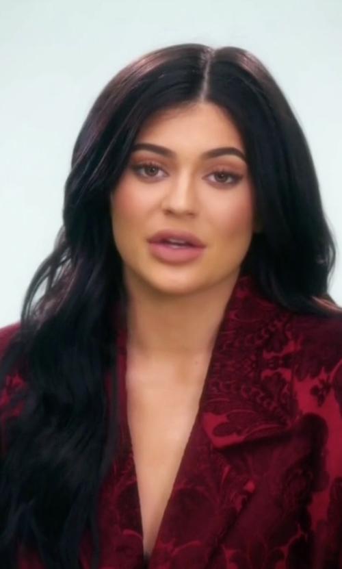 Kylie Jenner with Zeynep Erdogan Brocade Blazer in Keeping Up With The Kardashians