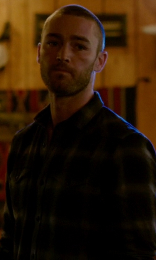 Jake McLaughlin with Saturdays NYC Crosby Plaid Oxford Shirt in Quantico