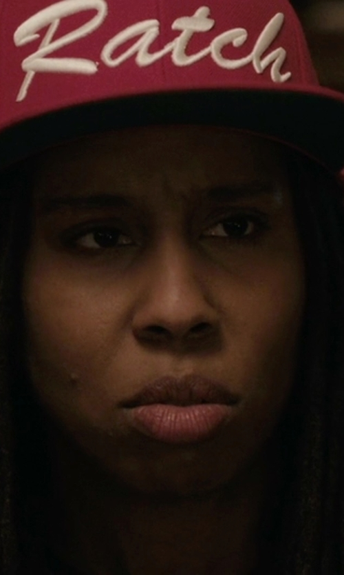 Lena Waithe with Rogue Republik Limited Never Basik Snapback Hat in Master of None