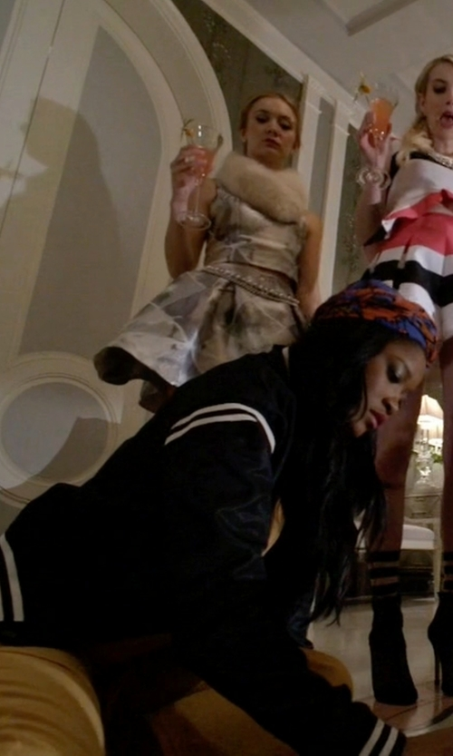 Keke Palmer with Zoe Karssen Bomber Jacket in Scream Queens