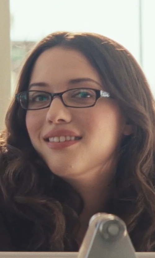 Kat Dennings with Spy Drake Rectangular Eyeglasses in Thor