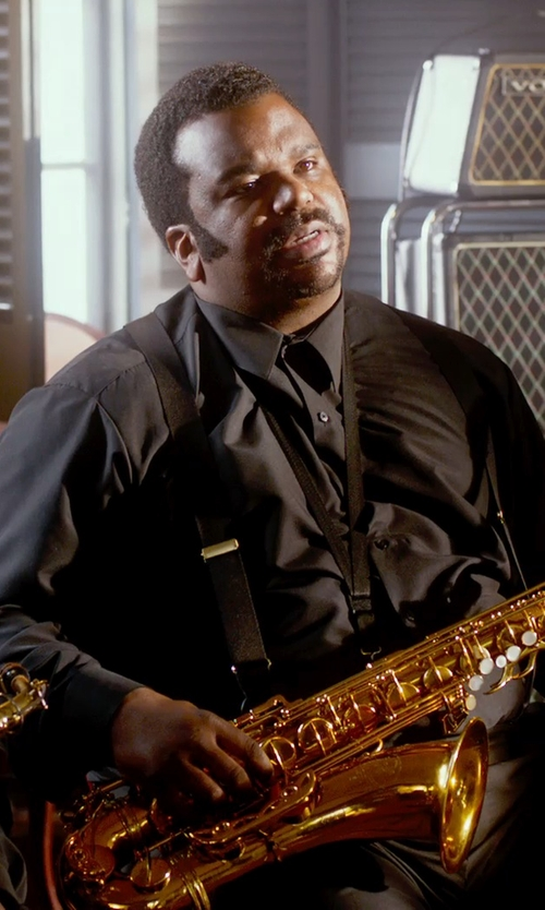Craig Robinson with Hugo Boss Slim Fit Dress Shirt in Get On Up