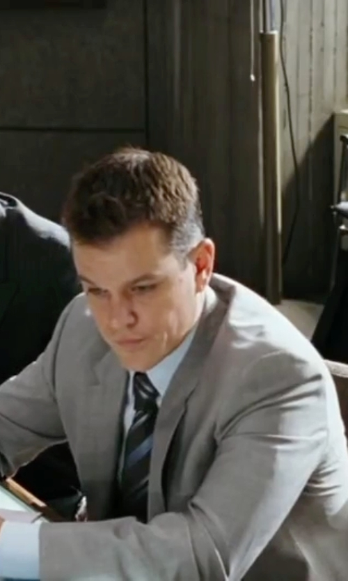 Matt Damon with Paul Smith Two Piece Wool Suit in The Departed