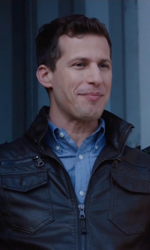 Andy Samberg with Gitman Vintage Chambray Oxford Shirt in Brooklyn Nine-Nine