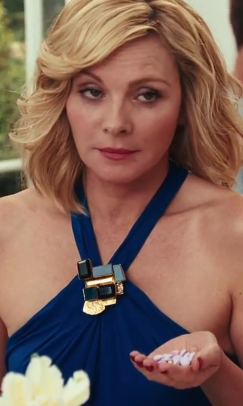 Kim Cattrall with Roverto Cavalli Halter Dress in Sex and the City 2