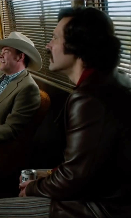 Paul Rudd with Viva Vintage clothing Bellbottoms Flare Leg Trousers Stripes in Anchorman 2: The Legend Continues