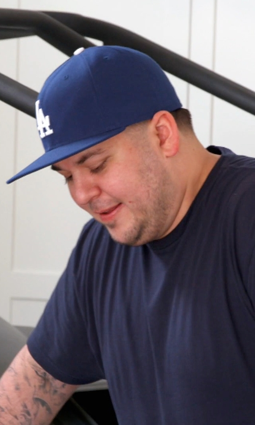 Rob Kardashian with New Era MLB 59Fifty Los Angeles Dodgers Cap in Keeping Up With The Kardashians