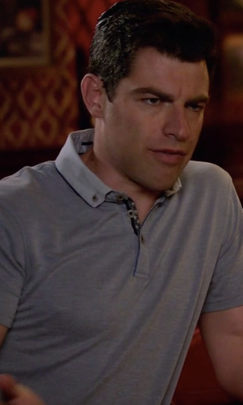 Max Greenfield with Ted Baker London Missow Piqué Polo Shirt in New Girl