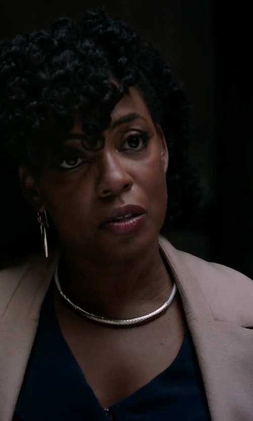 Aunjanue Ellis with Lucca Couture Ali Trench Coat in Quantico