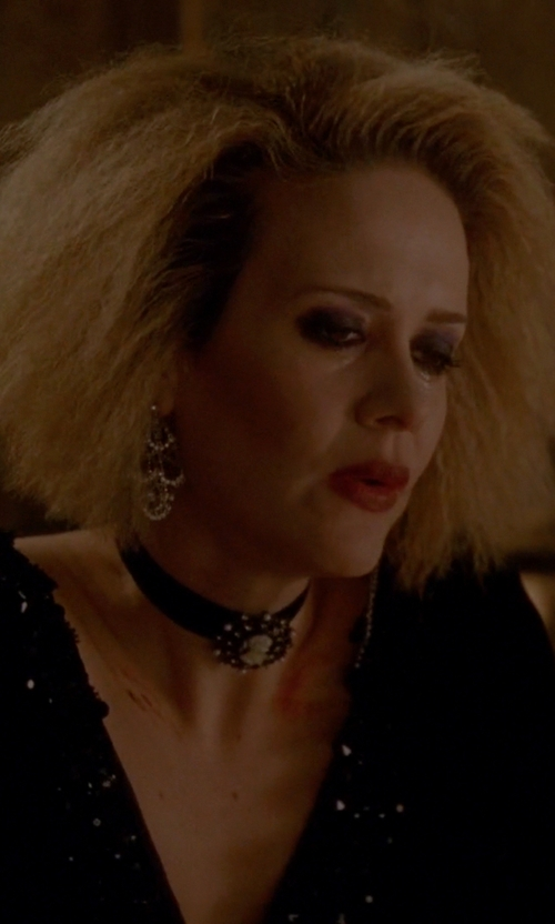 Sarah Paulson with Nadri Cubic Zirconia Chandelier Drop Earrings in American Horror Story