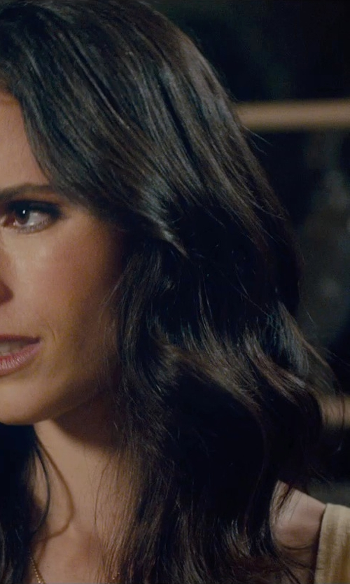 Jordana Brewster with Majestic Filatures Scoop Neck Tank Top in Furious 7