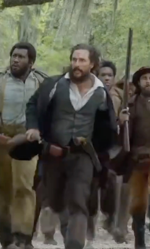 Matthew McConaughey with Tonello Wool Vest in Free State of Jones