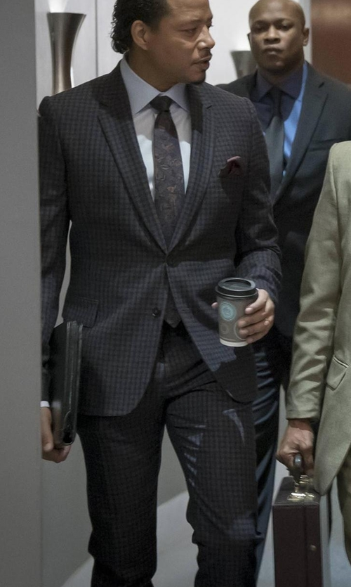 Terrence Howard  with Ermenegildo Zegna Check Two-Piece Suit in Empire