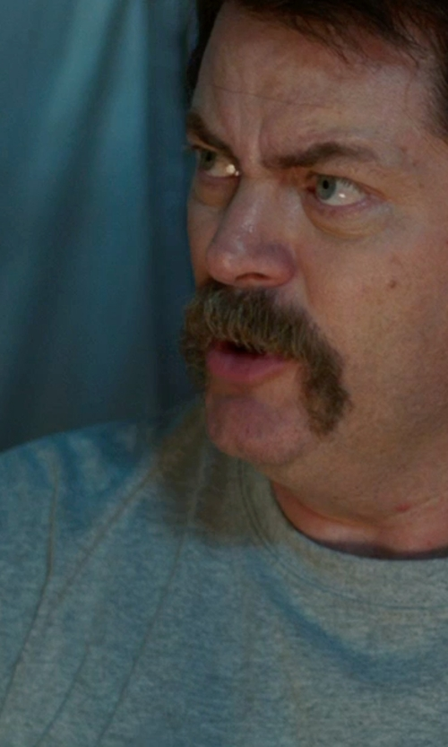 Nick Offerman with Apolis Crew Neck T-Shirt in We're the Millers