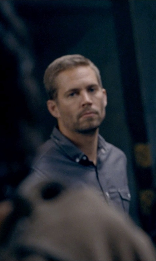 Paul Walker with Barbour Outpost Cotton Shirt in Fast & Furious 6