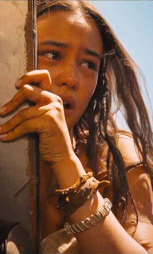 Courtney Eaton with Fashion Plaza Simulated Blue Opal Stone Leather Bracelet in Mad Max: Fury Road