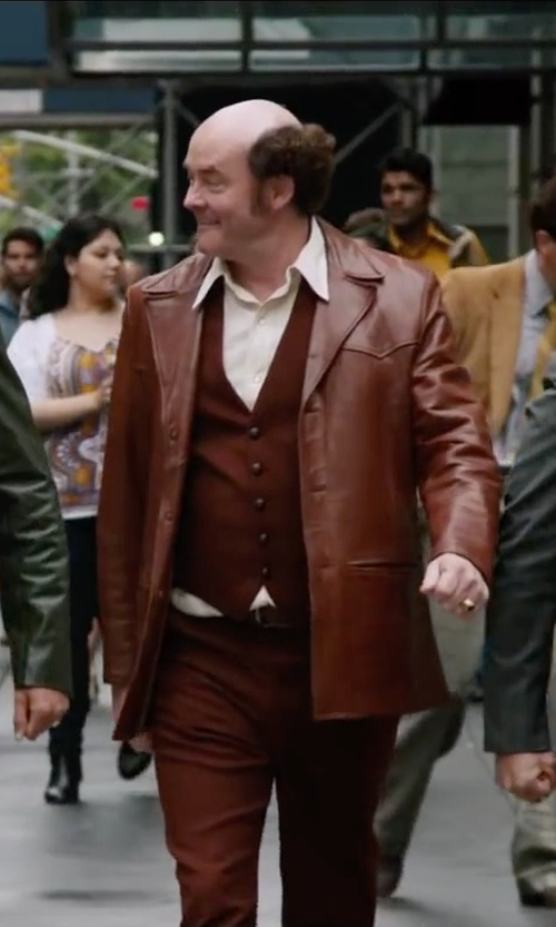 David Koechner with Onia Jack Sport Shirt in Anchorman 2: The Legend Continues
