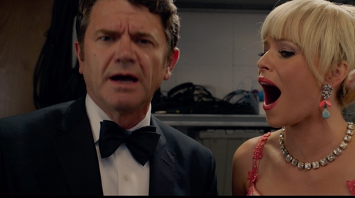 John Michael Higgins with Brooks Brothers Non-Iron Madison Fit Point Collar Dress Shirt in Pitch Perfect 2
