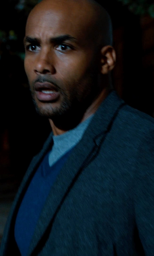 Boris Kodjoe with L.L.Bean Men's Interlock Mock-Turtleneck in Addicted
