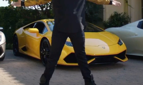 Andy Samberg with Lamborghini Huracán LP 610-4 Car in Popstar: Never Stop Never Stopping