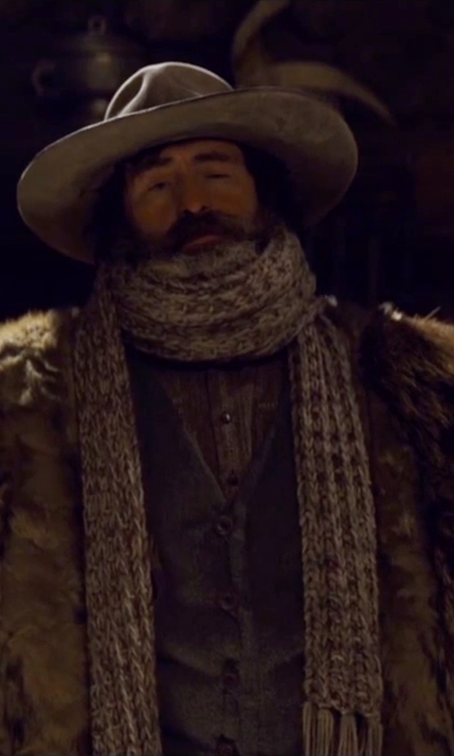 Demian Bichir with Courtney Hoffman (Costume Designer) Custom Made 'Demian Bichir' Fur Coat in The Hateful Eight