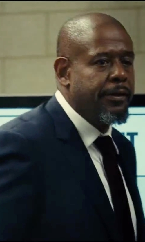 Forest Whitaker with Boss Hugo Boss Sharp Fit French Cuff Dress Shirt in Taken 3