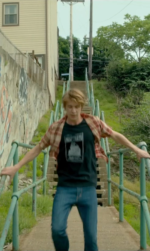 Thomas Mann with Dondup Denim Pants in Me and Earl and the Dying Girl