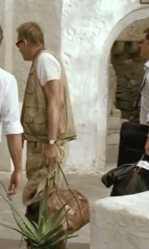 Stellan Skarsgård with Hugo Boss Slim Ultra Leather Strap Watch in Mamma Mia!