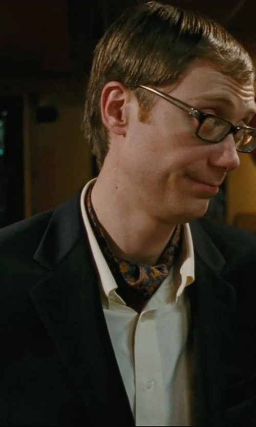 Stephen Merchant with Forzieri Paisley Print Twill Silk Ascot Tie in Hall Pass
