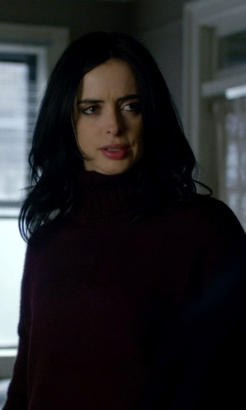 Krysten Ritter with Lafayette 148 New York Cashmere Turtleneck Sweater in Jessica Jones