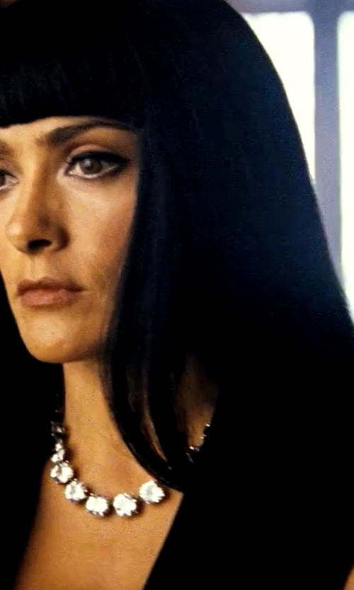 Salma Hayek with Bottega Veneta Cubic Zirconia Necklace in Savages