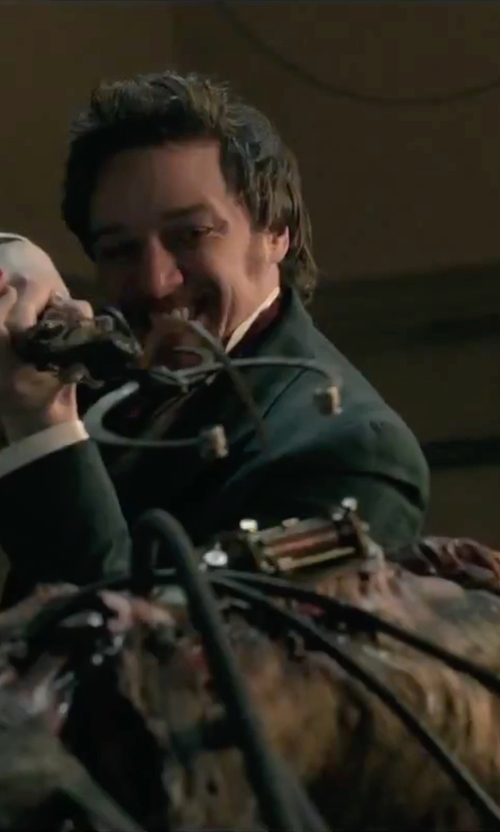 James McAvoy with Haider Ackermann Corduroy Double Breasted Coat in Victor Frankenstein