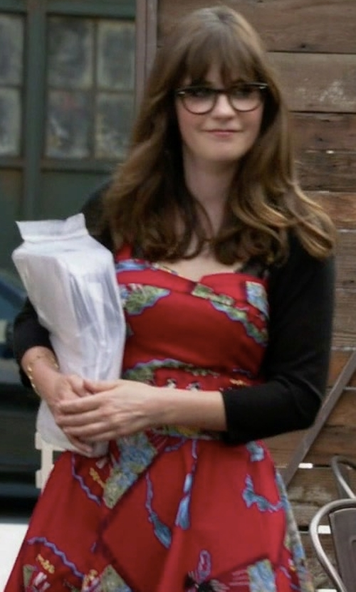 Zooey Deschanel with Trashy Diva Trixie Short Dress in New Girl