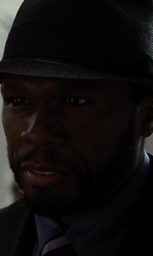 50 Cent with Mr. Kim Francis Fedora Hat in Southpaw