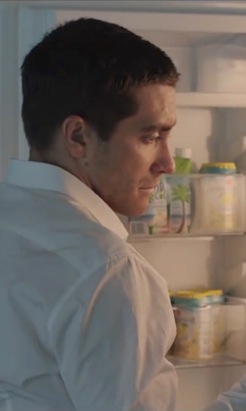 Jake Gyllenhaal with Charvet	 Poplin Dress Shirt in Demolition