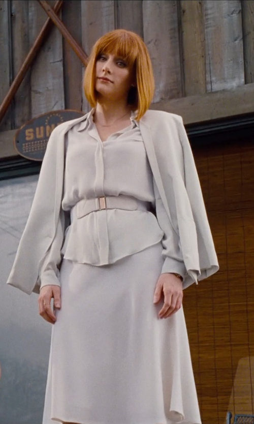 Bryce Dallas Howard with The Chatelaine Charm Belt Company Emmeline with Love Affair Charm Belt in Jurassic World