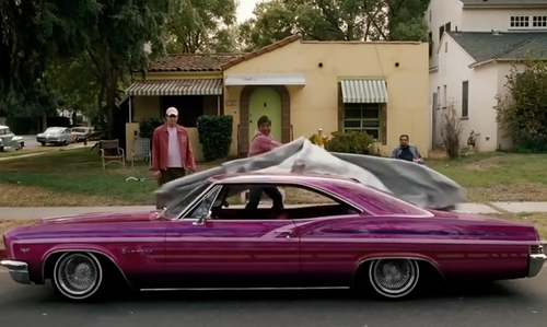 George Lopez with Chevrolet 1966 Impala Coupe in Valentine's Day