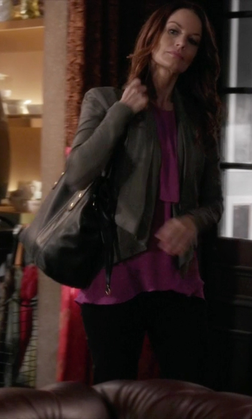 Laura Leighton with See by Chloe	 Andrea Leather Crossbody Tote Bag in Pretty Little Liars
