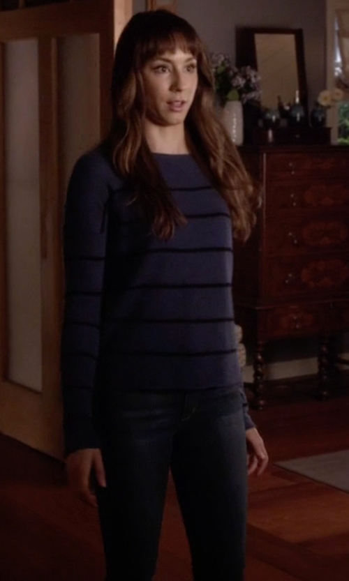 Troian Bellisario with Iro 'Flesk' Slim Fit Jeans in Pretty Little Liars