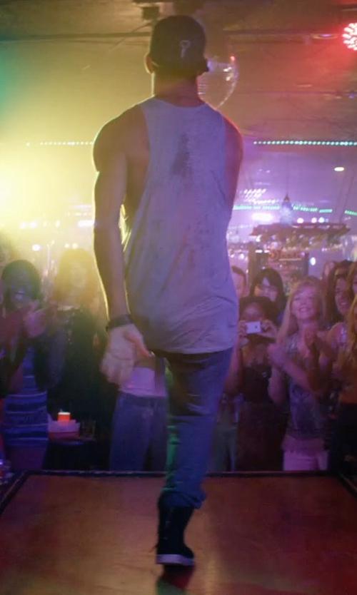Channing Tatum with Polo Ralph Lauren Varick Slim-Straight Weston-Wash Jeans in Magic Mike XXL