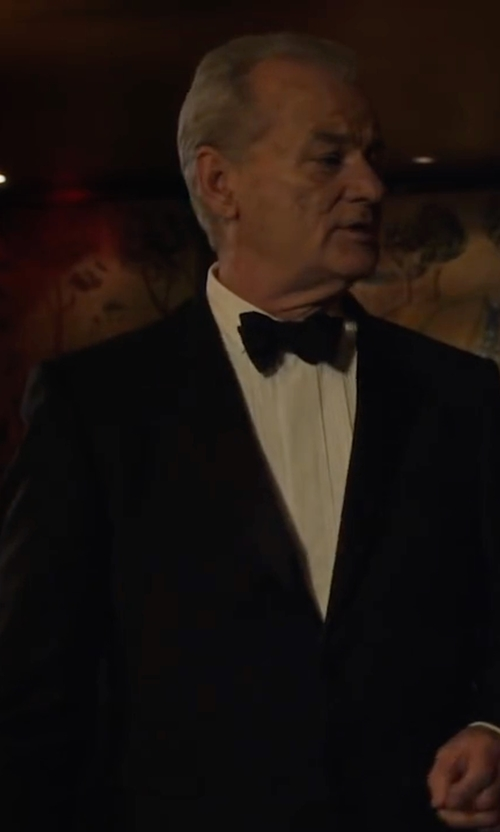 Bill Murray with Z Zegna Silk Satin Bow Tie in A Very Murray Christmas